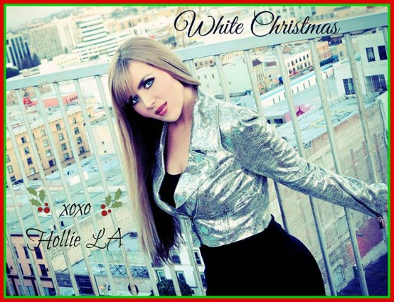 "Hollie LA records her version of the classic ""White Christmas"""